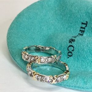 NWT Fashion Silver Gold Stack Rings  Sz 6